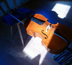 my lovely cello resting after a hard day at work